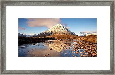 Golden Light In Glencoe Framed Print