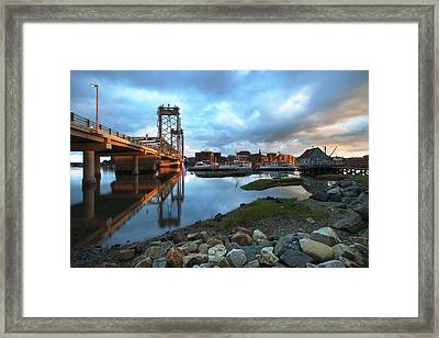 Golden Light In Portsmouth Framed Print by Eric Gendron