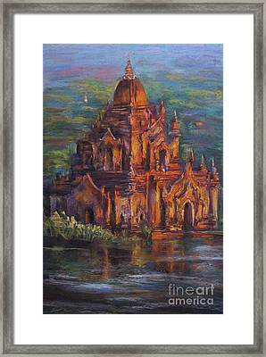 Golden Light Framed Print by Jieming Wang