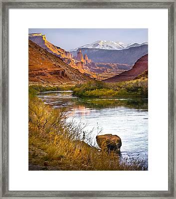 Golden Light Framed Print by Marilyn Hunt