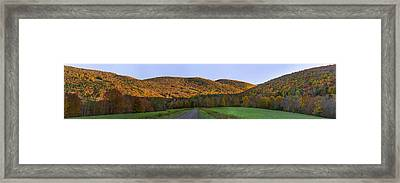 Framed Print featuring the photograph Golden Light On The Catskills by Mark Papke