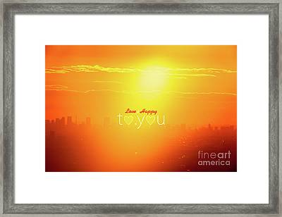 To You #002 Framed Print