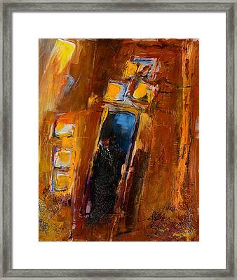 Framed Print featuring the painting Golden Lights by Elise Palmigiani