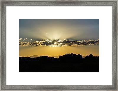 Golden Lining Framed Print