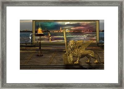 Golden Lion From Alternative Earth Framed Print by Desislava Draganova