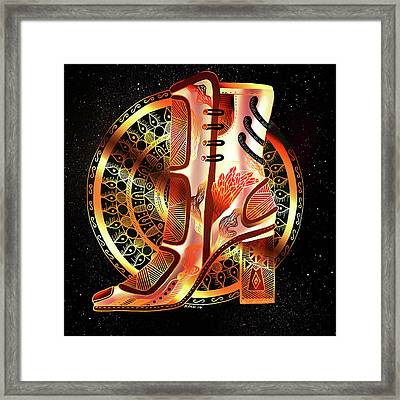 Golden Mandala High Heel Framed Print by Kenal Louis