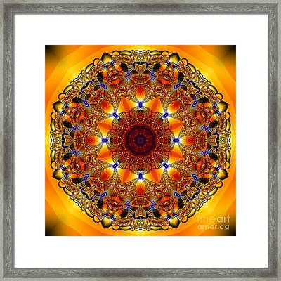 Golden Mandala Framed Print