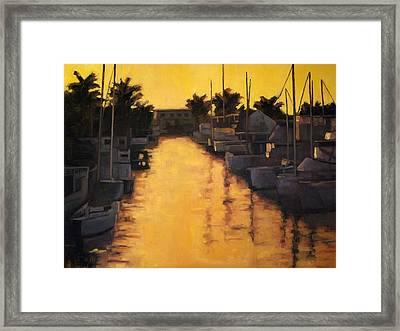 Golden Marina 2 Framed Print