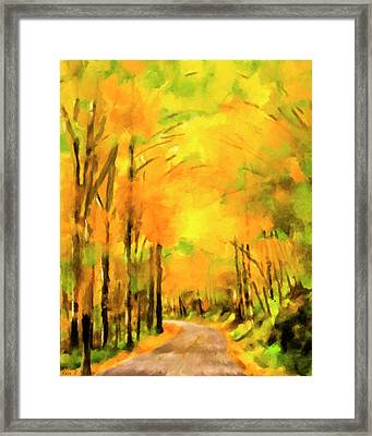 Framed Print featuring the painting Golden Miles - Ode To Appalachia by Mark Tisdale