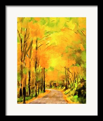 Smokey Mountain Drive Paintings Framed Prints