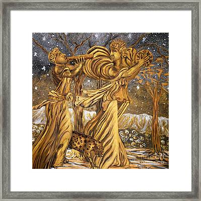 Golden Minstrels. Framed Print by Caroline Street