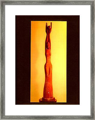 Golden Moon Goddess Framed Print by Eric Singleton