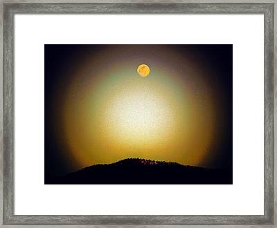 Golden Moon Framed Print by Joseph Frank Baraba