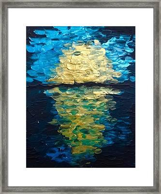 Golden Moon Reflection Framed Print