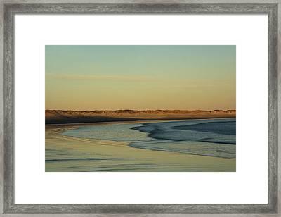 Golden Morning On Rhode Island Coast Framed Print by Nancy De Flon