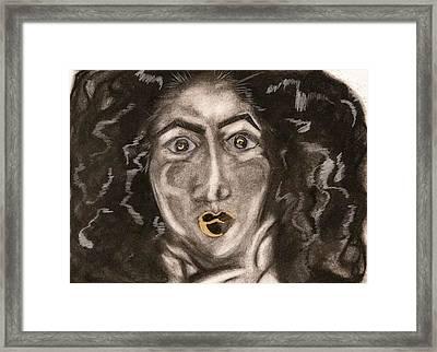 Gold N Natural Framed Print