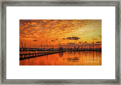 Golden Orange Sunrise Framed Print