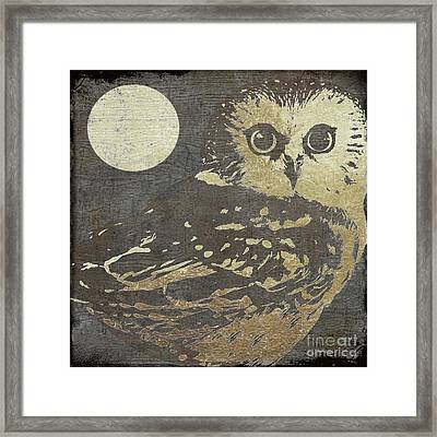 Golden Owl Framed Print by Mindy Sommers