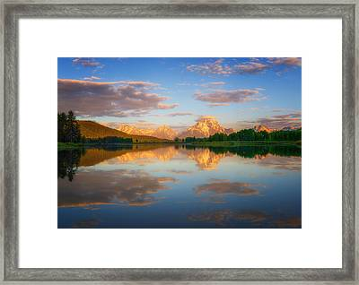 Golden Oxbow Light Framed Print