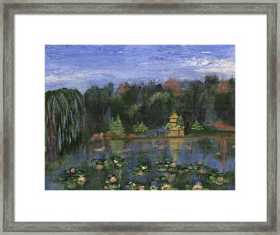 Framed Print featuring the painting Golden Pagoda by Jamie Frier