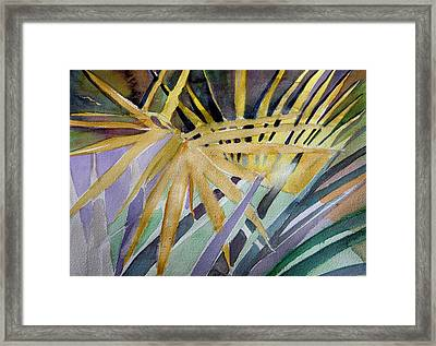 Golden Palms Framed Print by Mindy Newman