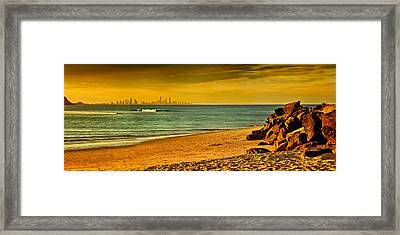 Golden Paradise Framed Print by Az Jackson