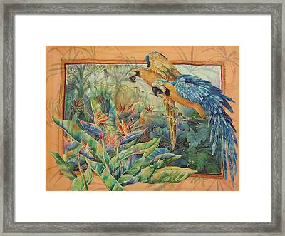 Golden Paradise Framed Print by Deborah Younglao
