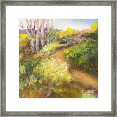 Golden Pathway Framed Print by Glory Wood