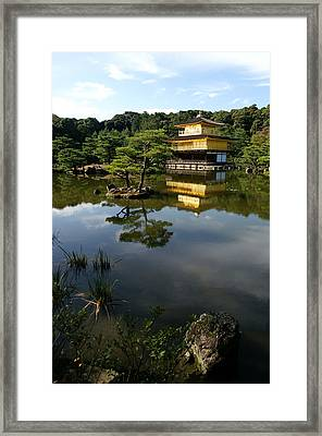 Golden Pavilion In Kyoto Framed Print by Jessica Rose