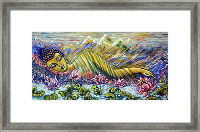 Golden Peace Framed Print