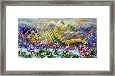 Golden Peace Framed Print