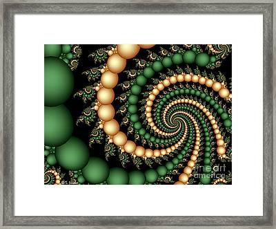 Golden Pearls Framed Print by Sandra Bauser Digital Art
