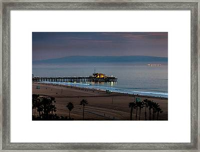 Golden Pier Framed Print