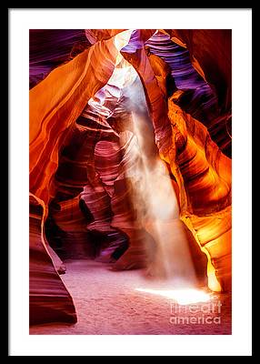 Slot Canyon Framed Prints
