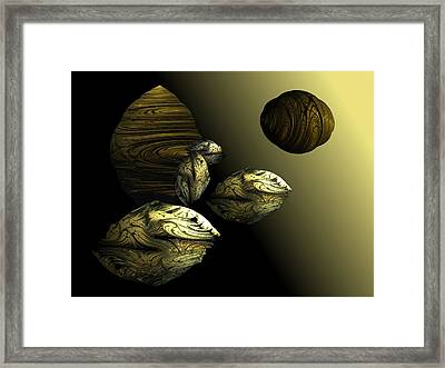 Golden Planet Framed Print by Ricky Kendall