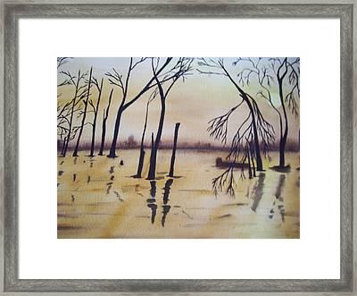 Golden Pond Framed Print by Audrey Bunchkowski
