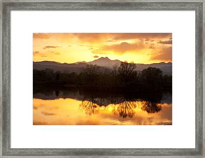 Golden Ponds Longmont Colorado Framed Print by James BO  Insogna