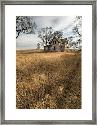 Framed Print featuring the photograph Golden Prairie  by Aaron J Groen
