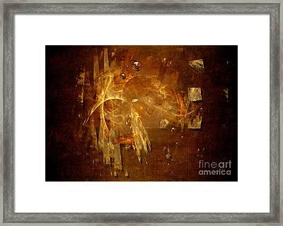 Framed Print featuring the digital art Golden Rain by Alexa Szlavics