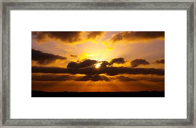 Golden Ray Sunset Framed Print by James Granberry