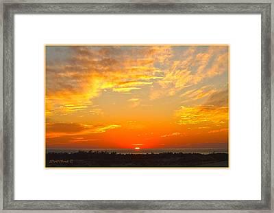Golden Red Sunset Framed Print by Sonali Gangane