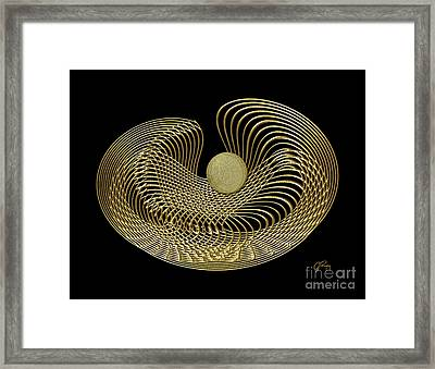 Golden Reticulation Abstract Framed Print by Gabriele Pomykaj