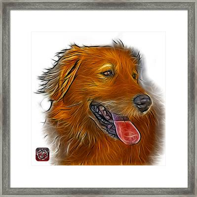 Framed Print featuring the digital art Golden Retriever - 4057 Wb by James Ahn