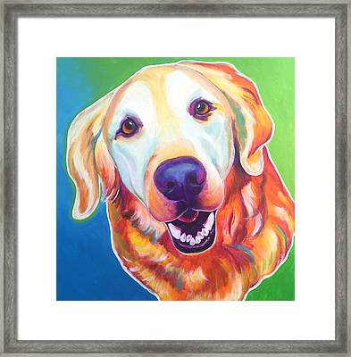 Golden Retriever - Daisy Mae Framed Print by Alicia VanNoy Call