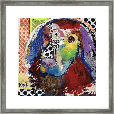 Golden Retriever  Framed Print by Michel Keck