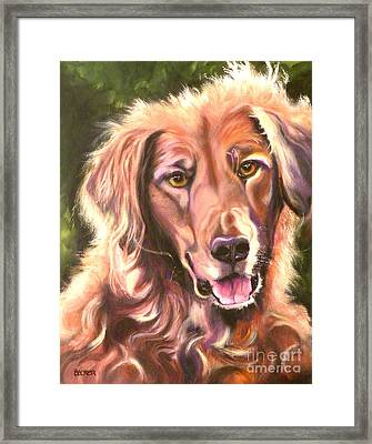 Golden Retriever More Than You Know Framed Print by Susan A Becker