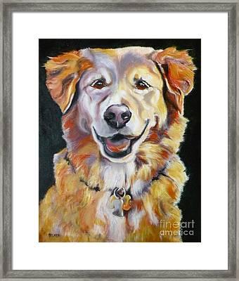 Golden Retriever Most Huggable Framed Print by Susan A Becker
