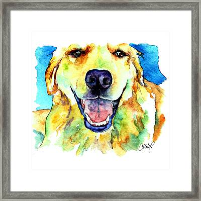 Golden Retriever Portrait Framed Print