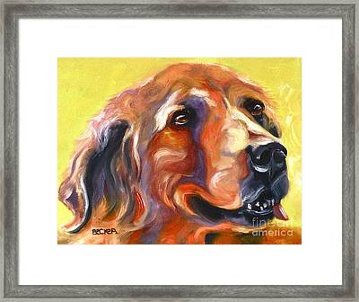 Golden Retriever The Shadow Of Your Smile Framed Print by Susan A Becker
