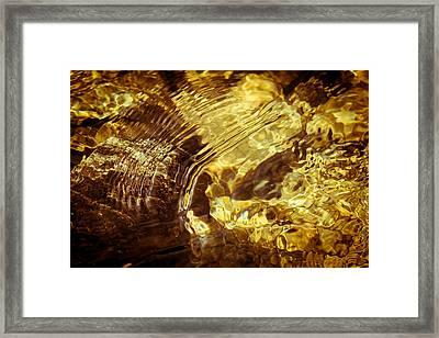 Golden Ripples Framed Print